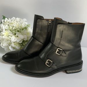 Givenchy black leather boots size 37 or 6,5-7 US